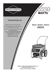 briggs u0026 stratton 30324 user manual 5 pages