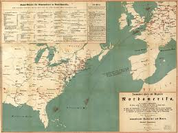 United States America Map by Emigrant U0027s Map And Guide For Routes To North America World