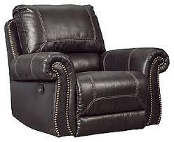 Black Leather Recliner Recliners Furniture Homestore