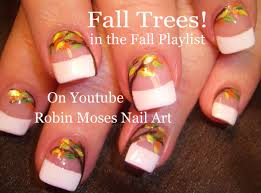 easy fall leaf nails diy thanksgiving nail design tutorial