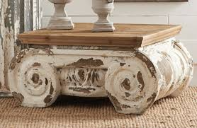 White Distressed Coffee Table Distressed Coffee Table Ionic Capital Coffee Table Coffee Table