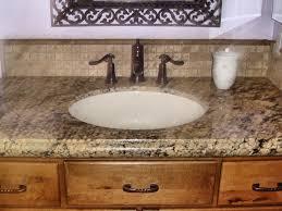 Bathroom Sink  Interior Beige Tike Backsplash And Round White - Bathroom sink backsplash