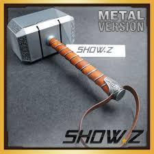 metal made show z 1 1 avengers thor mjolnir hammer replica prop in