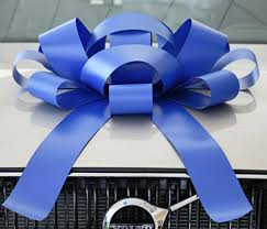 white and blue bows 30 inch white magnetic congratulations bow 531ads w