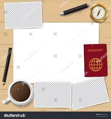 vector paper pencil blank paper passport stock vector 445387075