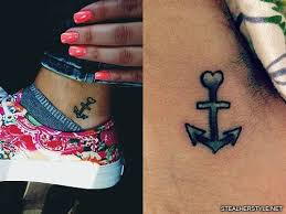 dagi bee anchor ankle tattoo steal her style