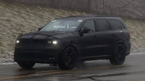 Dodge Durango Srt - dodge durango srt spied dressed entirely in black