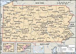 map of pa pennsylvania facts history britannica