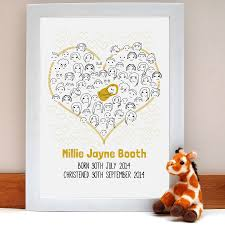 fingerprint baby shower or christening u0027guestbook u0027 by