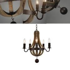 Wine Barrel Chandelier For Sale Wood Iron Chandelier Ebay