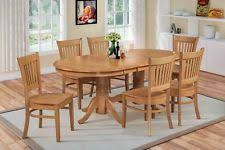 oak dining room set vanc7 oak 7 dining room set table with a leaf and 6 dinette