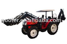 4x4 compact tractor with loader wheeled tractor dq404 with front
