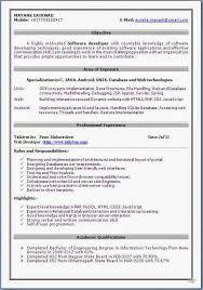 best sample cv beautiful curriculum vitae resume format with