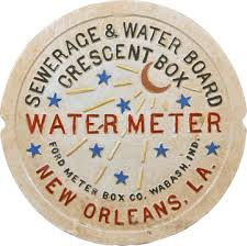 new orleans water meter cover 1700 new orleans la sewage water board embossed painted cast iron