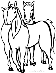 horses coloring page online horses