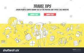 doodle edit travel tips doodle concept easy edit stock vector 423829354