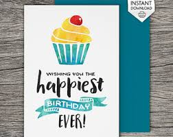 printable birthday card let u0027s eat cake and get
