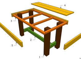 Free Wood Patio Table Plans by Patio Table Plans Marylouise Parker Org