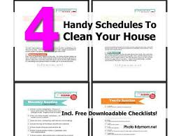 4 handy schedules to clean your house