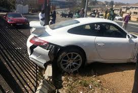 slammed porsche gt3 car crash porsche 911 gt3 wrecked on test drive in johannesburg