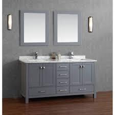 bathroom elegant bamboo double vessel sink bathroom vanity
