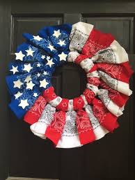 white and blue ti ful bandana wreath hometalk