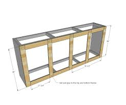 how to build a kitchen island bar ana white grandy sliding door console diy projects