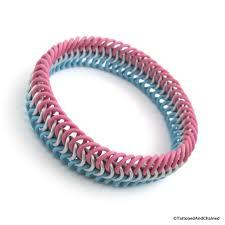 humanity bracelets transgender pride chainmaille stretchy bracelet european 6 in 1