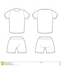 t shirt and shorts template for design sample for sports clothi