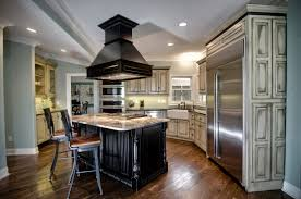 kitchen kitchen black wooden kitchen island vent hood
