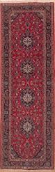 Kashan Persian Rugs by Persian Kashan Red Runner 10 To 12 Ft Wool Carpet 11554