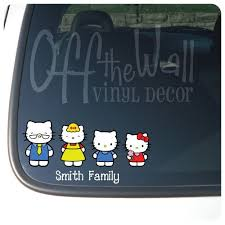 10 car decals images kitty car car