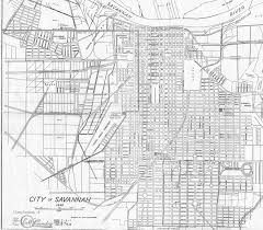 Savannah Map Savannah U0027s Lost Squares Journal Of The Society Of Architectural