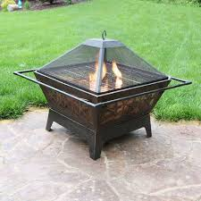 sunnydaze northern galaxy fire pit w cooking grate