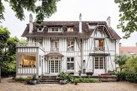 contemporary renovation of a 19th century french half timbered
