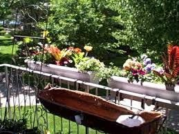 how to hang planters on balcony patio railings youtube