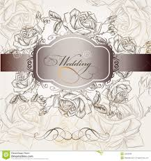 Invitation Cards For Wedding Designs Wedding Invitation Card In Vintage Style Stock Vector Image