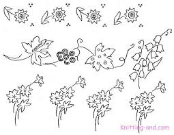 Flower Designs On Paper Free Embroidery Pattern Small Floral Motifs C1930
