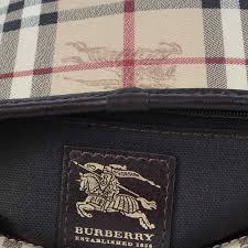 Interior Stitches Burberry Haymarket Regent Tote With Stitches Luxity