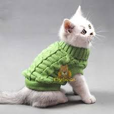 sweaters for cats pet cat crochet knit sweater sweatershirt pullover