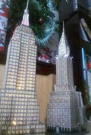dept 56 empire state building and chrysler building lit led