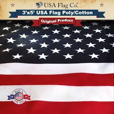 Display Of The American Flag Rules Us Flag 3x5 Foot Poly Cotton Screen Dyed Usa Flag Co