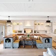 u shaped kitchen with island u shaped island with bench seating noting hearth like casework in