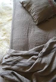rustic rough heavy weight linen sheet natural