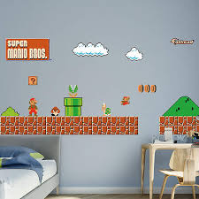 Super Mario Home Decor Nes Super Mario Bros Best Picture Super Mario Wall Decals Home