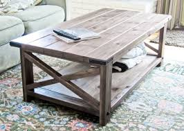 Square Rustic Coffee Table Rustic Coffee Table Pine Wood In Ana White X Diy Projects Inside