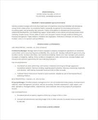 Dental Office Manager Resume Sample by Property Manager Resume 9 Free Word Pdf Documents Download