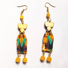 eco earrings 2017 new style carving wood earrings handmade earrings