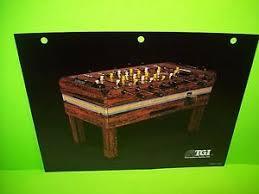 vintage foosball table for sale tgi tournament games inc original vintage foosball table arcade game