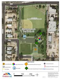Map Of Mesa Az Escobedo Park City Of Mesa